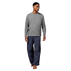 Maine New England - Grey striped loungewear set