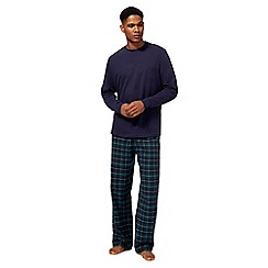 Maine New England - Big and tall green checked pyjama set