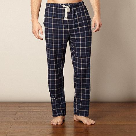 RJR.John Rocha - Designer navy brushed checked pyjama bottoms