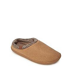 RJR.John Rocha - Tan mule slippers
