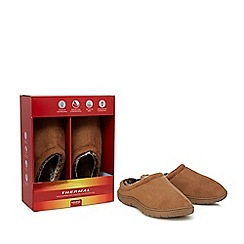 Maine New England - Tan suedette mule slippers