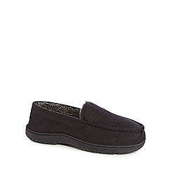 Maine New England - Black moccasin slippers