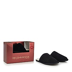 RJR.John Rocha - Navy suede mule slippers in a gift box