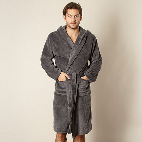 J by Jasper Conran - Designer grey hooded dressing gown