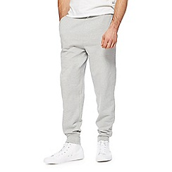 Red Herring - Big and tall grey ribbed cuff joggers