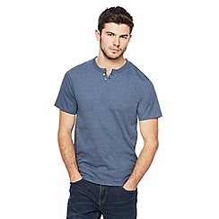 Red Herring - Big and tall navy notch neck t-shirt