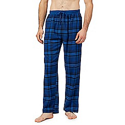 Red Herring - Big and tall blue checked pyjama bottoms