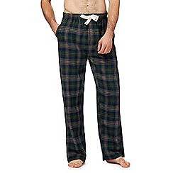 RJR.John Rocha - Dark green checked pyjama bottoms