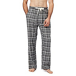 RJR.John Rocha - Big and tall grey checked pyjama bottoms