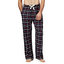 RJR.John Rocha - Big and tall navy windowpane checked pyjama bottoms