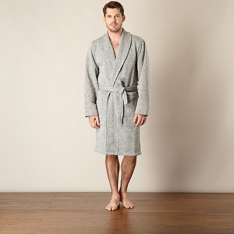 Mantaray - Grey knitted fleece gown