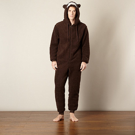 Mantaray - Chocolate monkey fleece onesie