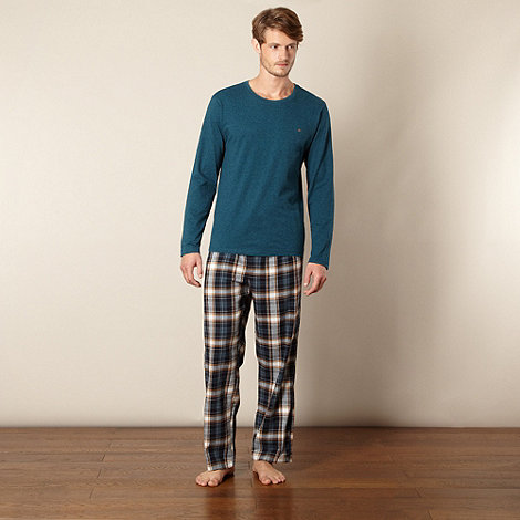 Mantaray - Dark turquoise checked pyjama set