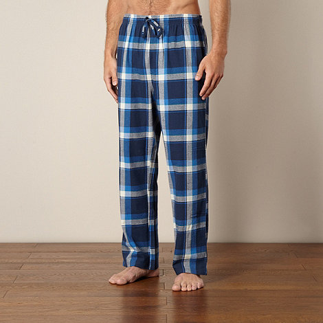 Mantaray - Pack of two red and navy checked loungewear trousers