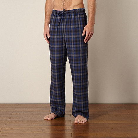 Mantaray - Pack of two grey checked lounge trousers