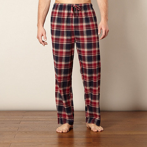Mantaray - Dark red brushed checked bottoms
