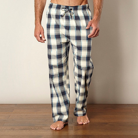 Mantaray - Pack of two navy and dark red checked bottoms