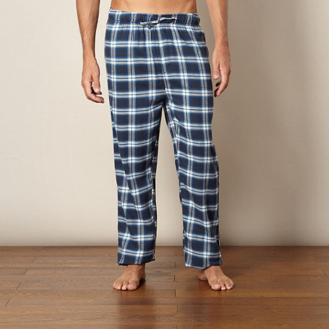 Mantaray - Navy checked loungewear bottoms