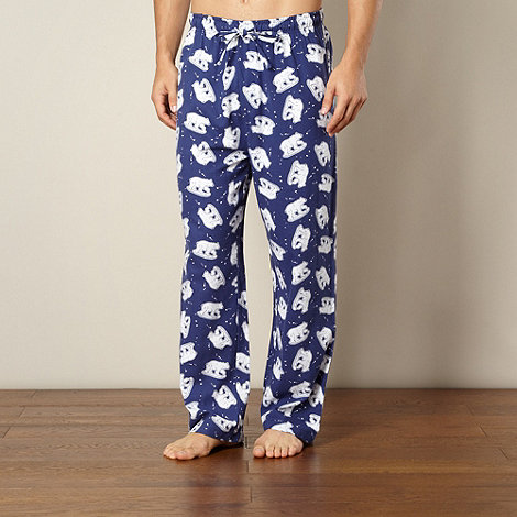 Mantaray - Navy polar bear pyjama bottoms
