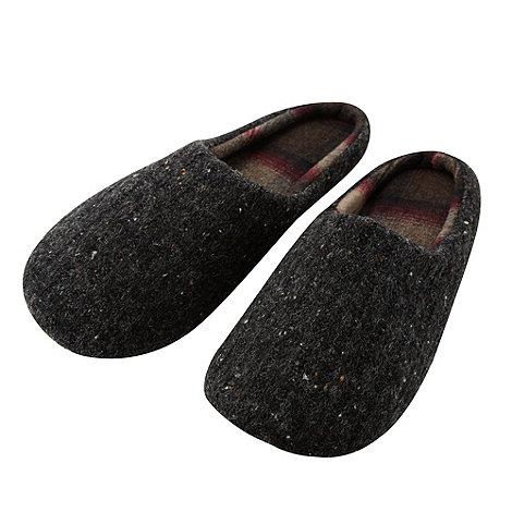 RJR.John Rocha - Designer grey flecked mule slippers