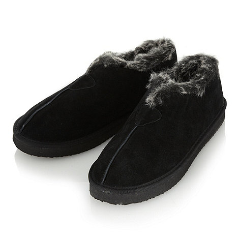 RJR.John Rocha - Designer black suede faux fur lined slipper boots