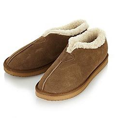 RJR.John Rocha - Designer tan suede faux fur lined slipper boots