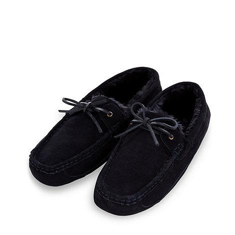 RJR.John Rocha - Designer navy suede moccasin slippers