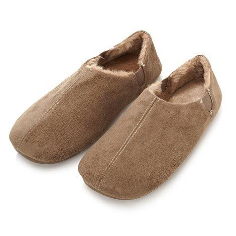 RJR.John Rocha - Designer taupe faux fur lined slippers