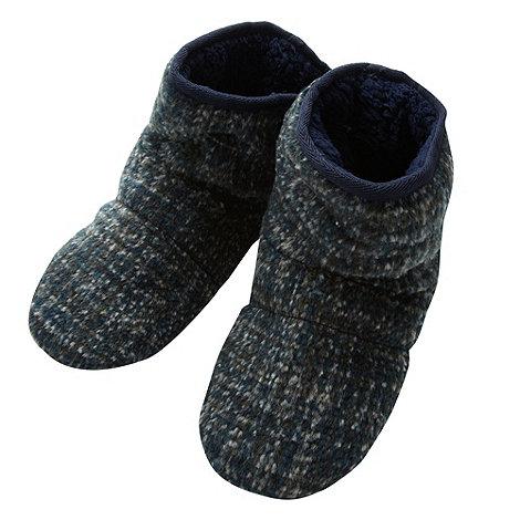 RJR.John Rocha - Designer blue mottled slipper boots