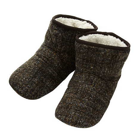 RJR.John Rocha - Designer brown mottled slipper boots
