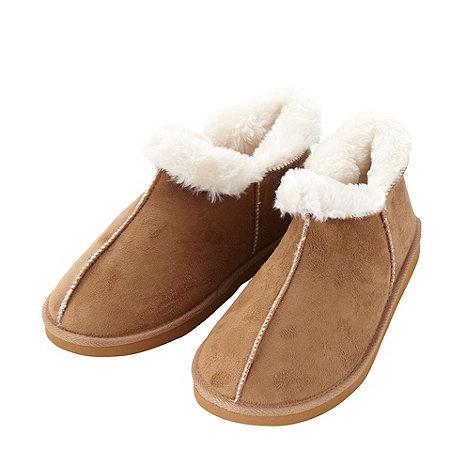 RJR.John Rocha - Designer tan suedette slipper boots