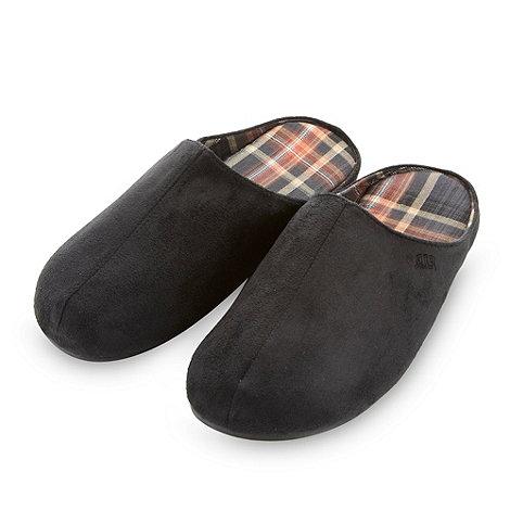RJR.John Rocha - Designer black microsuede mule slippers