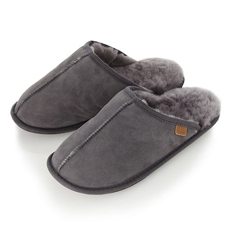 Just Sheepskin - Grey sheepskin mule slippers