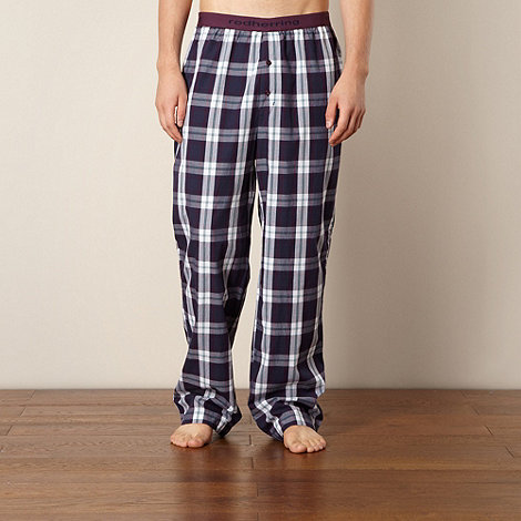 Red Herring - Navy checked lounge trousers