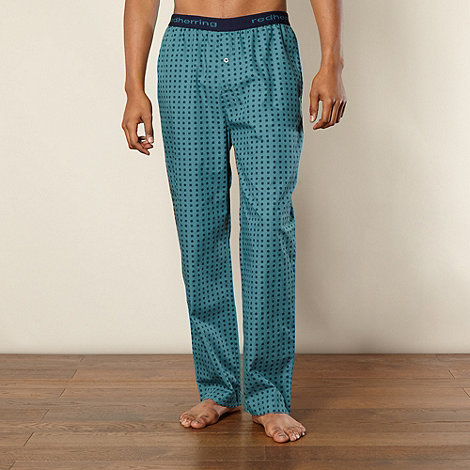 Red Herring - Dark turquoise floral loungewear trousers