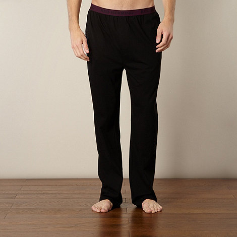 Red Herring - Black jersey lounge pants