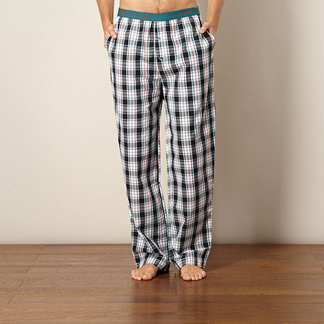 Red Herring - Black checked lounge trousers