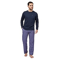 Tommy Hilfiger - Navy houndstooth print pyjama set