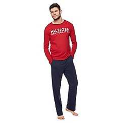Tommy Hilfiger - Red logo print pyjama set