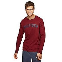 Tommy Hilfiger - Dark red logo print pyjama top