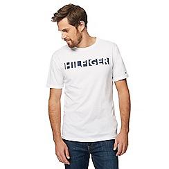 Tommy Hilfiger - White slogan print t-shirt
