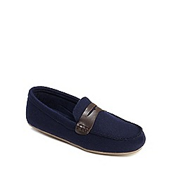 Clarks - Navy moccasins