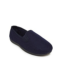 Clarks - Navy 'King Twin' slip on shoes