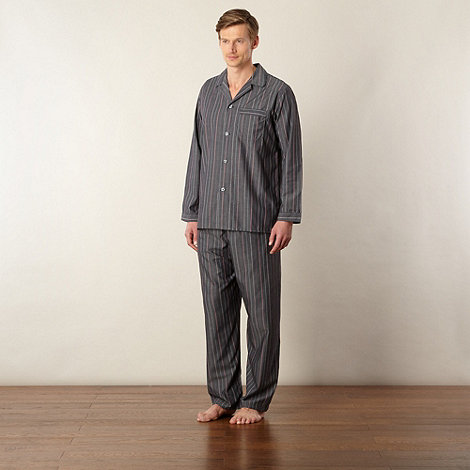 Maine New England - Grey striped easy care pyjama set