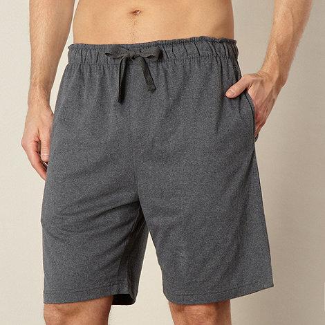 RJR.John Rocha - Designer dark grey jersey lounge shorts