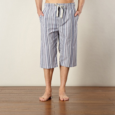 RJR.John Rocha - Designer navy multi striped three quarter pyjama bottoms