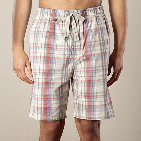 RJR.John Rocha - Designer natural checked loungewear shorts