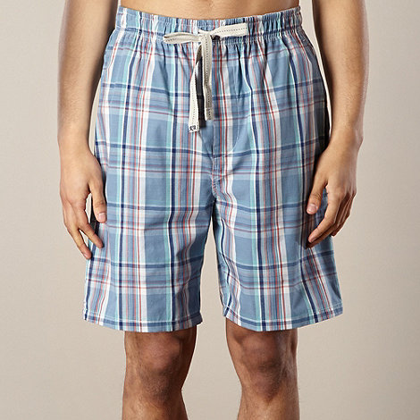 RJR.John Rocha - Designer blue checked loungewear shorts