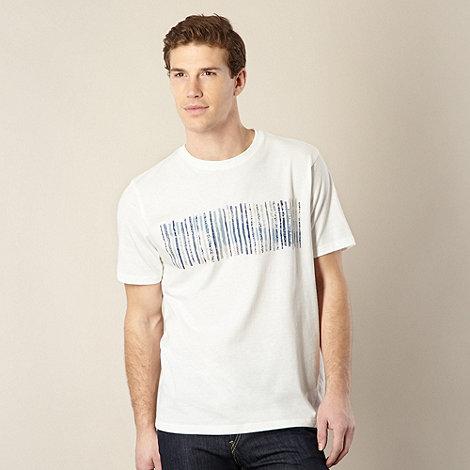 RJR.John Rocha - Designer cream stitched lines t-shirt