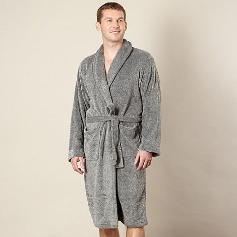RJR.John Rocha - Designer grey speckled fleece dressing gown